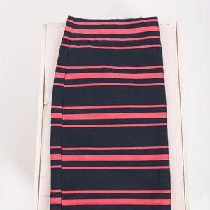 J. Crew Skirts - J.Crew Women's Mini Skirt sz 4 Striped Navy Blue